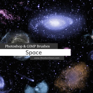 Space Photoshop and GIMP Brushes