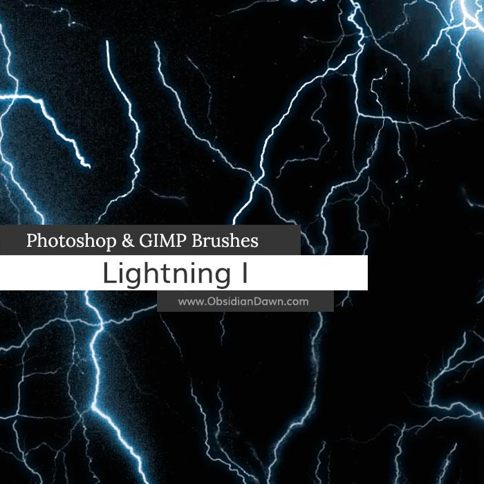 Lightning Photoshop and GIMP Brushes