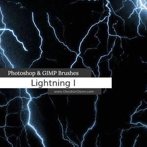 Lightning Photoshop and GIMP Brushes