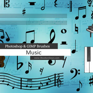 Music Photoshop and GIMP Brushes