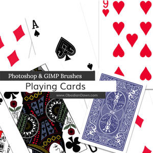 Playing Card Photoshop and GIMP Brushes
