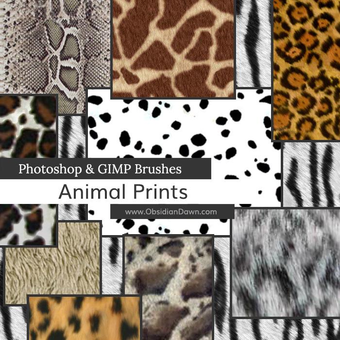 Animal Prints Photoshop and GIMP Brushes