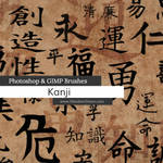 Kanji Photoshop and GIMP Brushes