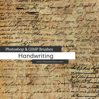 Handwriting Photoshop and GIMP Brushes by redheadstock