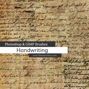 Handwriting Photoshop and GIMP Brushes