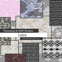 Lace Photoshop and GIMP Brushes by redheadstock