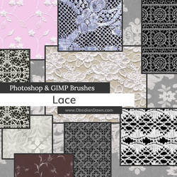Lace Photoshop and GIMP Brushes
