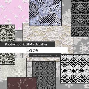 Lace Photoshop and GIMP Brushes