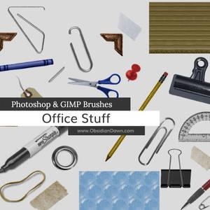 Office Stuff Photoshop and GIMP Brushes