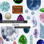 Gems and Stones Photoshop and GIMP Brushes