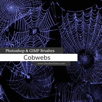 Cobwebs Photoshop and GIMP Brushes