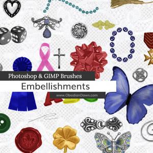 Embellishments Photoshop and GIMP Brushes