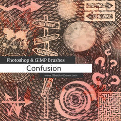 Confusion Photoshop and GIMP Brushes by redheadstock
