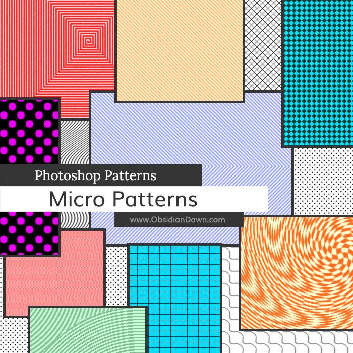 Micro Patterns Photoshop Patterns