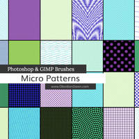 Micro Patterns Photoshop and GIMP Brushes