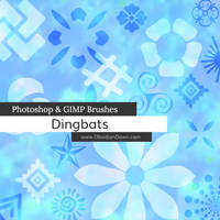 Dingbats Shapes Photoshop and GIMP Brushes by redheadstock