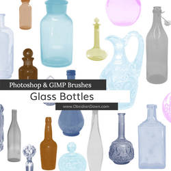 Glass Bottles Photoshop and GIMP Brushes by redheadstock