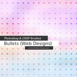 Web Bullets Photoshop and GIMP Brushes