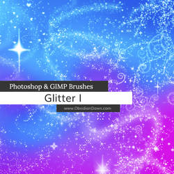Glitter + Sparkles Photoshop and GIMP Brushes