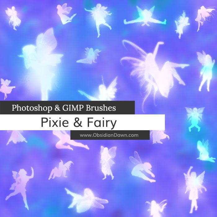Pixie - Fairy Photoshop and GIMP Brushes