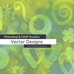 Vector Designs Photoshop and GIMP Brushes