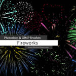 Fireworks Celebration Photoshop and GIMP Brushes