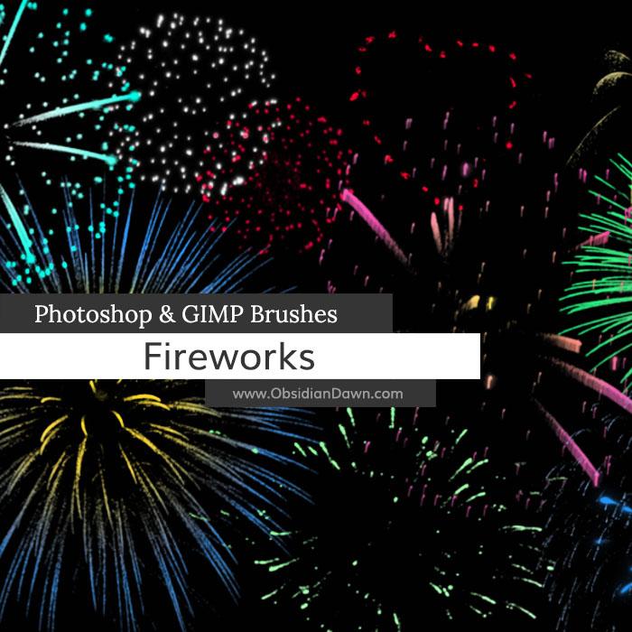 Fireworks Celebration Photoshop and GIMP Brushes by redheadstock