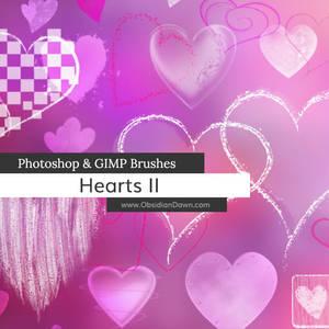 Hearts II Photoshop and GIMP Brushes