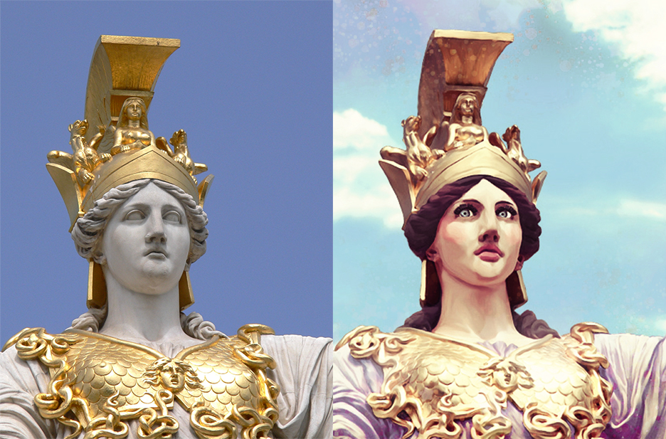 Bringing Athena Back to Life-Before and After by Dailiaa