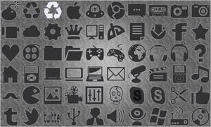 Flat Gray Icons