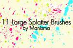 11 Large Splatter Brushes