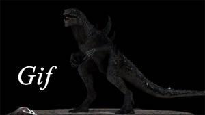 Godzilla model turnaround