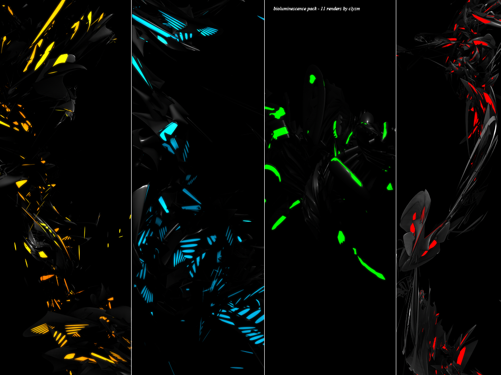 Clyzm : Bioluminescence C4D Pack / Water C4D Pack. Bioluminescence_C4D_Pack_by_clyzm