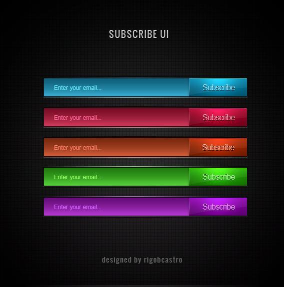 Subscribe UI - Free PSD by leozerosty