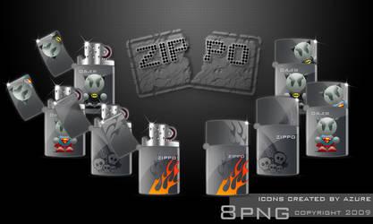 ZIPPO lighter by Azure-57
