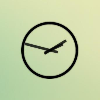 Non-Stop Simple Clock by zaffa91