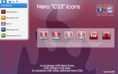 Nero CS3 icons