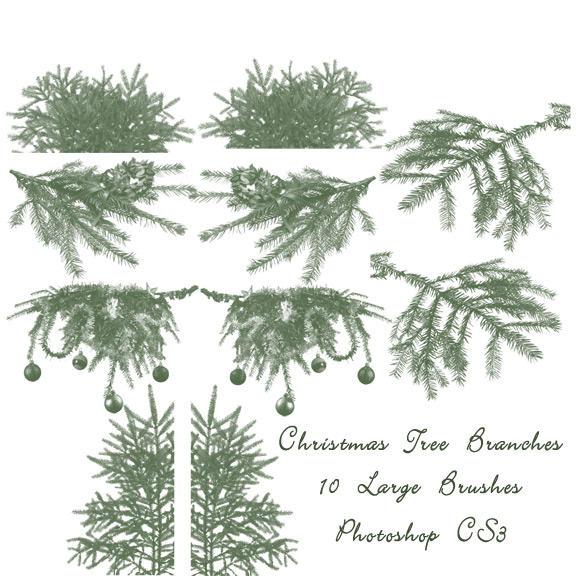 Christmas Tree Branch Brushes by imthinkingoutloud