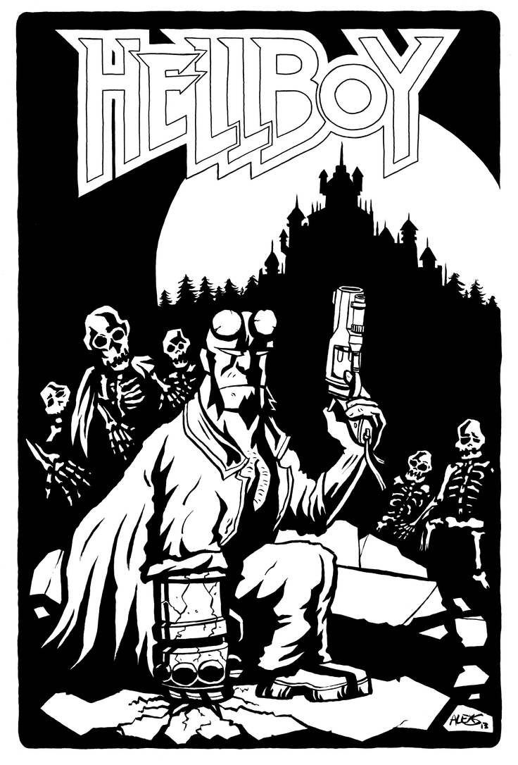 Hellboy Lineart