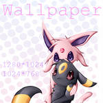 Wallpaper - Espeon X Umbreon
