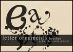 letter ornaments brushes