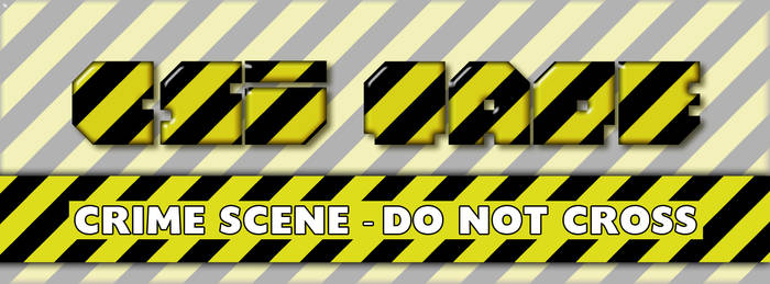 Crime Scene Tape Photoshop Style
