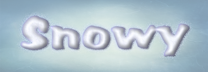 Photoshop Snowy Layer Style