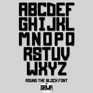 Round the Block Font