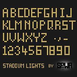 Stadium Lights Font PSD and Ai by Sinner-PWA
