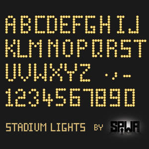 Stadium Lights Font PSD and Ai