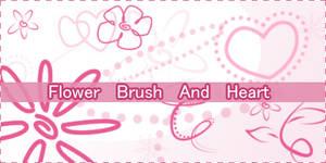 Flower Brush and heart