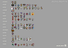 Touhou characters by kaztah