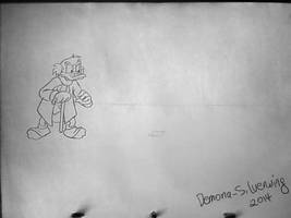 Scrooge chasing a bill Animation