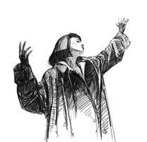 Mia Wallace  (Uma Thurman) Gif sketch